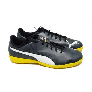 PUMA RAPIDO IT – BLACK/WHITE/IRON GATE YELLOW