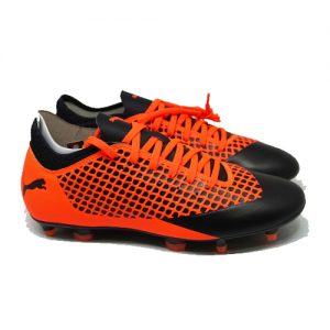 PUMA FUTURE 2.4 FG/AG – BLACK/SHOCKING ORANGE