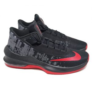 NIKE AIR MAX INFURIATE 2 MID – BLACK UNIVERSITY RED