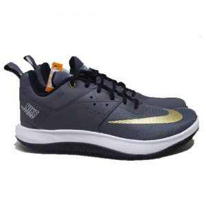NIKE FLY BY LOW II – DARK GREY/METALIC GOLD/WHITE