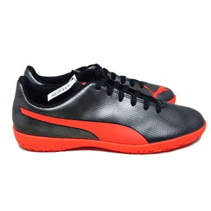 PUMA RAPIDO IT – BLACK/NGRY RED/AGED SILVER
